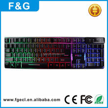 Cheapest Promotion Wired USB Backlight Keyboard for laptop computer Keyboard
