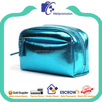 Wellpromotion fashion promotional lighted leather travel vanity case