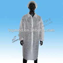 PE/Nonwoven Disposable Lab Coat/Visitor Clothes/Lab Gown