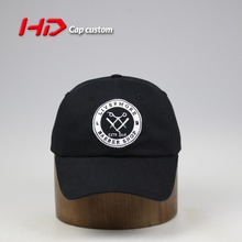 Wholesale Short Brim 3D Embroidery LOGO 6 Panels Black Baseball Cap