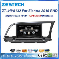 Wince 6.0 system 8'' screen size gps navigation for Hyundai Elantra 2016 mp3 player with dvd player Rear camera GPS DVD Radio