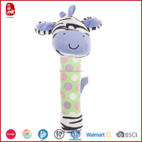Hot sale baby purple donkey plush handbell China manufacture