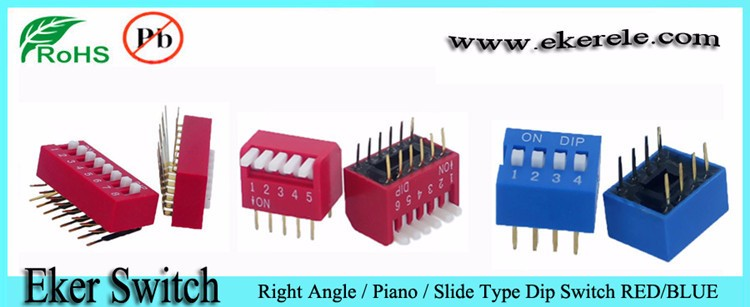1.27mm pitch smd dip switch 1 pole
