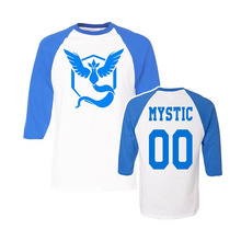 Onen Wholesale Custom pokemon go Blue Team Mystic tshirt printing wholesale latest shirt designs for men