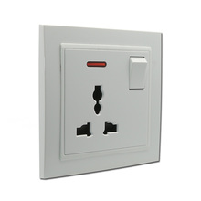 1 gang multi socket switch with light new design wall switch and socket