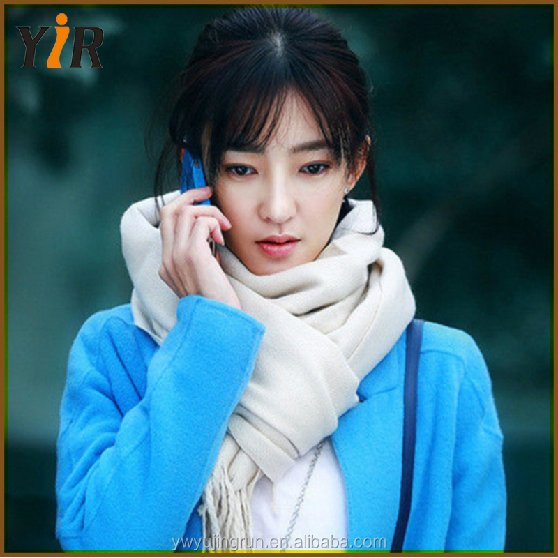 Wholesale Korean Plant color joker classic pure cashmere scarf warm scarf