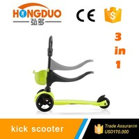 3 in 1 balance scooter three wheels kick scooter