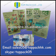 HOT SALE BEAUTY 2013 Eight side sealed packaging bags(QS)/gusset packing bags with window/eight side stand up pouch