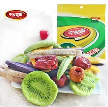 mixed vegetable and fruits snacks