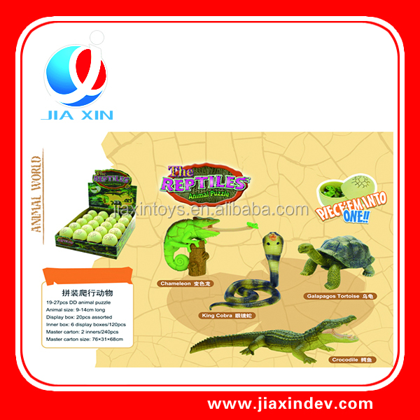 Newest fuuny assemble toy reptiles animal puzzle toy for child