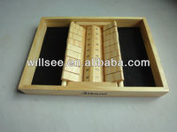 1001-5,Wood double 9 shut the box game,KTV play box,wooden shut the box