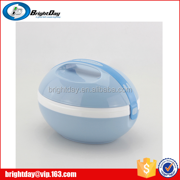 New design Oval shape food carrier plastic lunch box for students