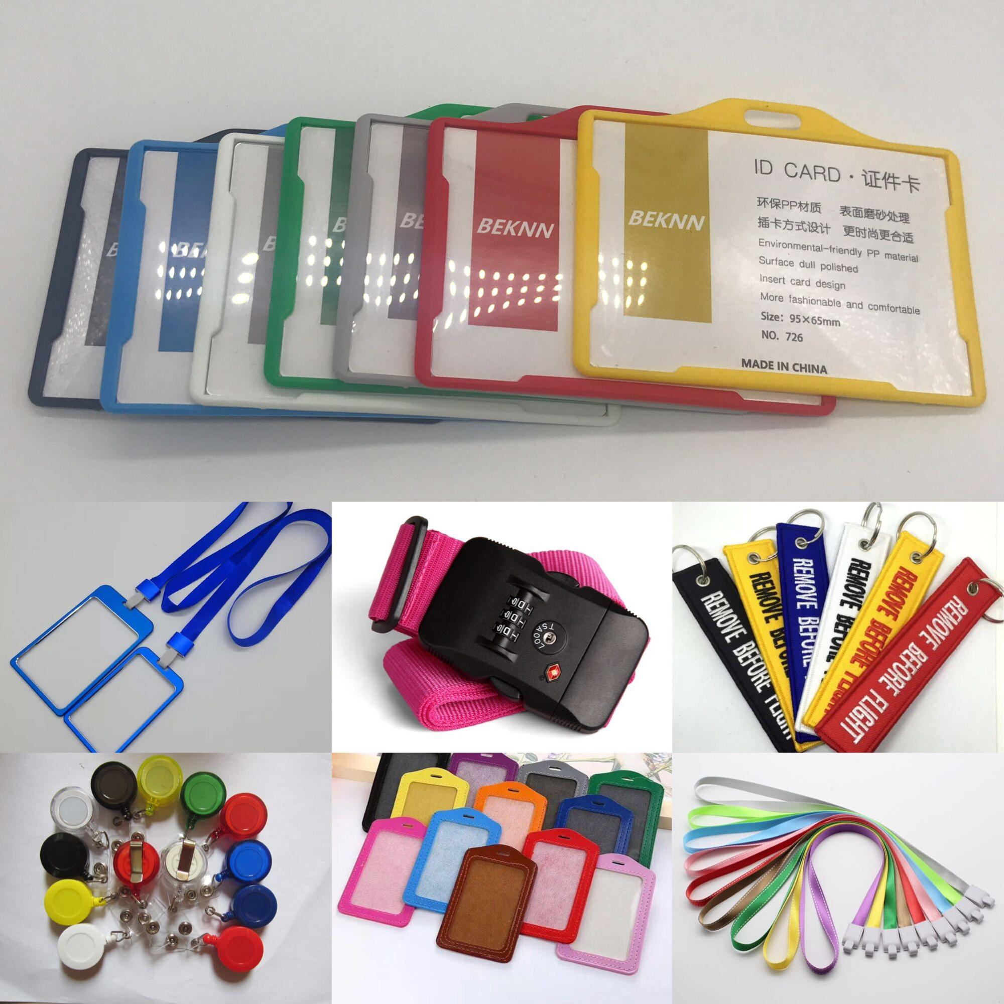 colorful customized ID card badge holder with different color optional Lanyard