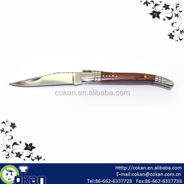 High Quality Stainless Steel Pocket Knife/Foldable Knife/Utility Knife,Rosewood Handle CK-KS030