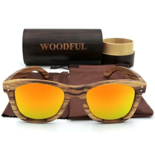Handmade Natural Bamboo Glasses Case Wooden Sunglasses