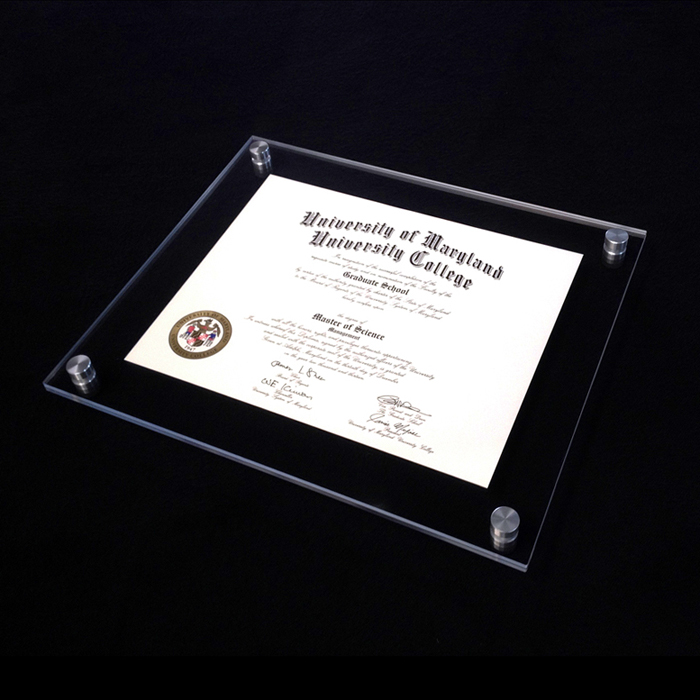 Clear Cheap Wall Mounted Acrylic Certificate Frame - Buy Acrylic ...