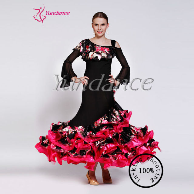 AB035 ruffle dress for dance cheap