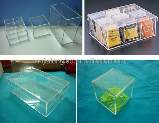 Lucite Plexi White Box Drawer Customized Acrylic Box Frosted White Perspex Box Wholesale