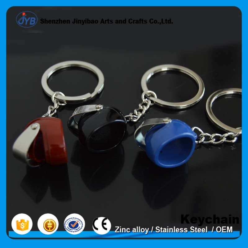 Factory cheap promotion motorcycle helmet metal keyring for promotion
