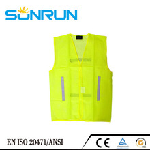Flashing red led safety vest for policia