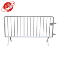Heavy duty powder coated iron temporary steel barrier