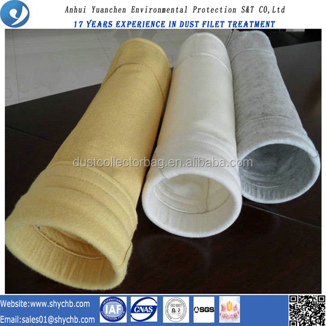 Non-woven PTFE and P84 composite dust filter bag with PTFE macreate filter bag