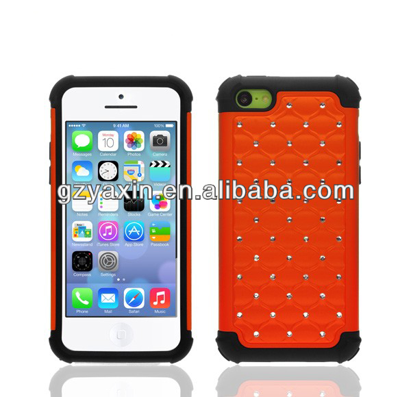 super quality!!diamond crystal mobile case for iphone5c ,protective for iphone5c,wholesales from manufactory