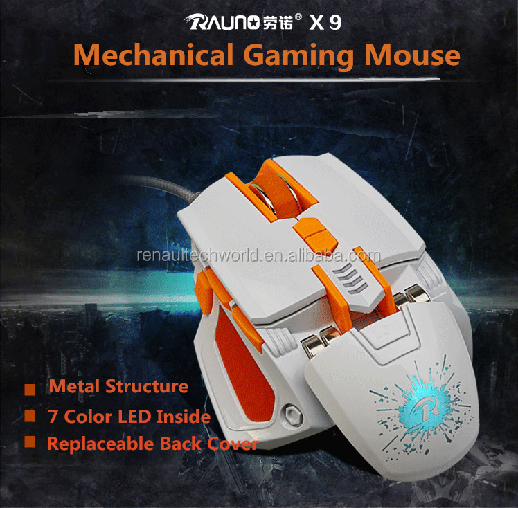 The LED Wired USB Optical ROHS FCC OEM Shenzhen Bulk Manufacturer Programming Gaming 8D Mause Mouse for Computer PC