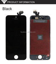 CUBE New arrival for iphone 5 lcd digitizer assembly white/black color for iphone 5 lcds for iphone 5c screen full assembly