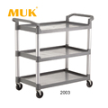 Guangzhou MUK hotel restaurant serving cart reinforced multifunction trolley with boxes