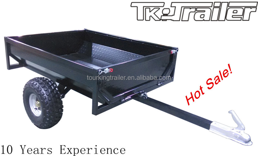 Hot Sale Small Dump Trailer ATV Box Trailer for Garden Use Powder Coated