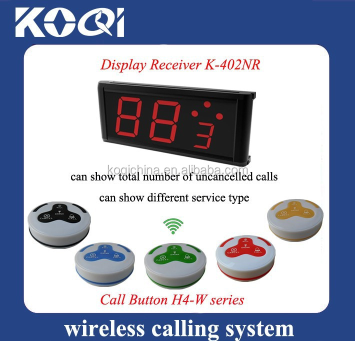 100% Waterproof Pagers Equipment K-402NR+H4-W For Clinic Hotel Restaurant Waiter Restaurant Wireless Ordering System
