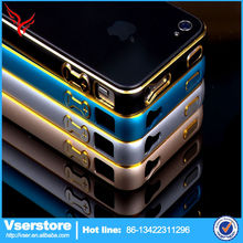 China mobile phone case for iphone 4 4s aluminum phone bumper case