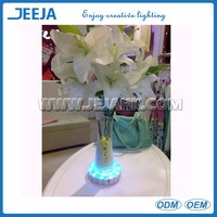 Wireless Battery Operated Led Under Table Floral Uplighter Lights Light Up Artificial Flowers