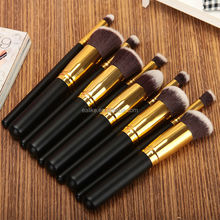Top-quality travel synthetic beauty needs 10 pcs cosmetic brush set makeup