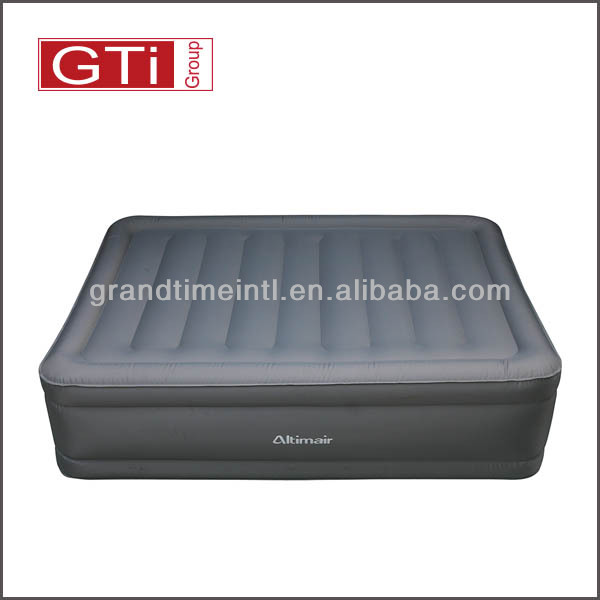 2018 Hot Selling High Quality Raised inflatable air bed with built-in-pump,PVC lamimated with fabric