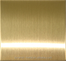 304 NO.8 SUPER MIRROR GOLD FINISH STAINLESS STEEL SHEET INOX