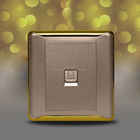 New Design !!! Custom Electrical Golden Network Computer Wall Outlets