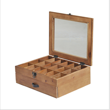 Double-deck Cypress Oil Box with Drawer