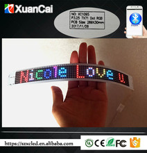 Flexible bluetooth APP Full color FPC bluetooth programmable mover message LED SOFT display board