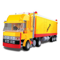 WANGE inventions construction yellow miniature truck block toy