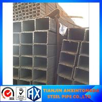 black ms square steel pipe for table steel ducting pipe rectangular pipe 220*80 erw rec tube hand tools