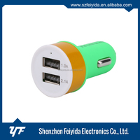 high quality 3 port usb car charger CE RoHS with 1A 2.1A