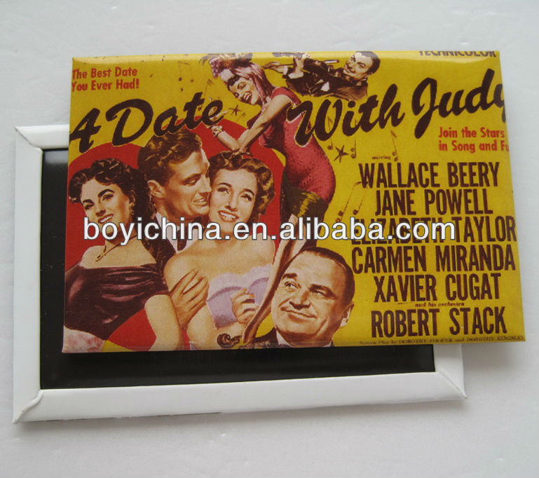 Portugal hotsale paper tin fridge magnet for promotional
