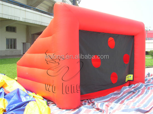 Inflatable football door for beach football games