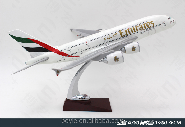 36CM-Airbus A380 Emirates <strong>Model</strong> Airplane Flying Decorative Aircraft Sculpture Plane Kits for Sale