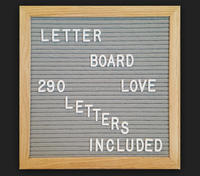 Slotted letter board oak color slotted felt letter board made in china