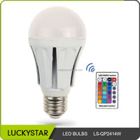 High quality 7w e27 energy saving color changing led light bulb