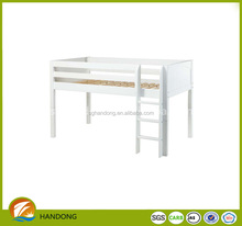 adult cheap White triple solid wood kids bunk bed