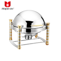 Hot sale top quality hotel restaurant round design stainless steel buffet service dish chafing dish chafer dishes food warmer